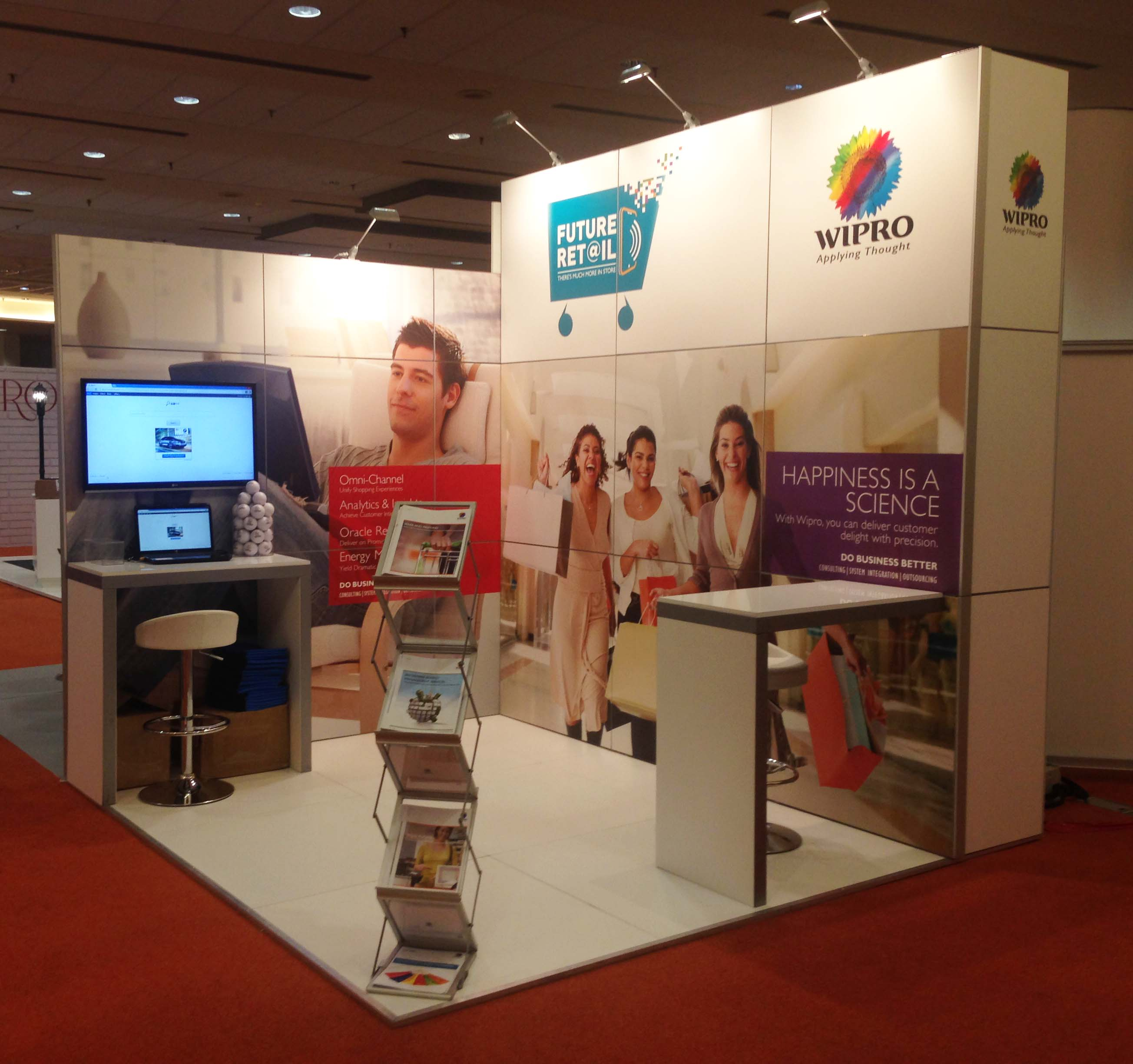 Exhibition Stands Oxfordshire : Wipro technologies limited modular solutions
