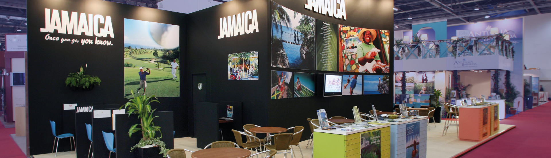 Jamaica - Bespoke Exhibition Stand - Imagine Events