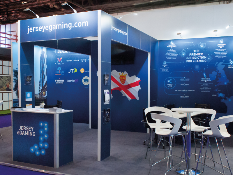 Exhibition Stand Attractors : Attracting e gaming business to jersey